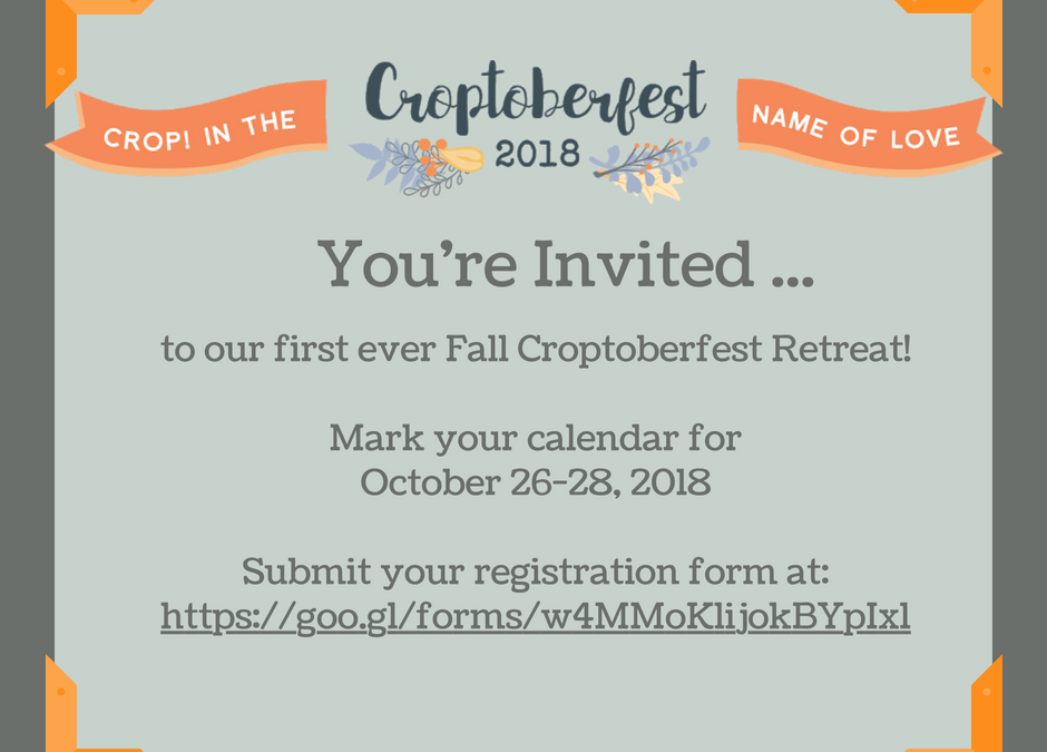 Fall Scrapbook Survival Retreat 2018